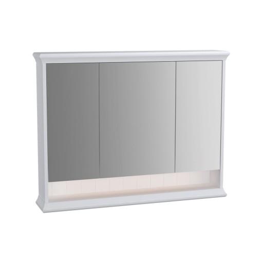 VitrA Valarte Matt White Illuminated Mirror Cabinet 980MM