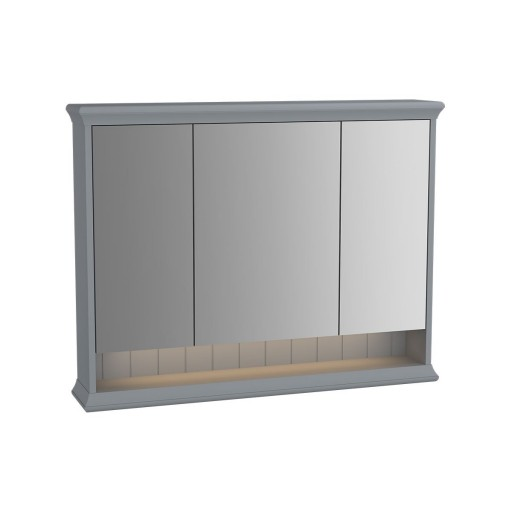 VitrA Valarte Matt Grey Illuminated Mirror Cabinet 980MM