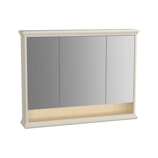 VitrA Valarte Matt Ivory Illuminated Mirror Cabinet 980MM