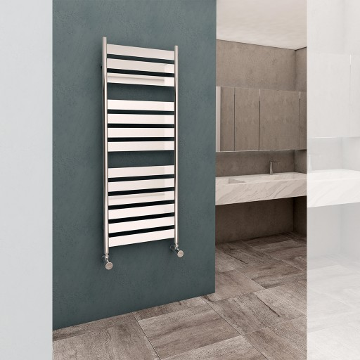 Sanica Calmo Vertical Single Panel Steel Designer Radiator