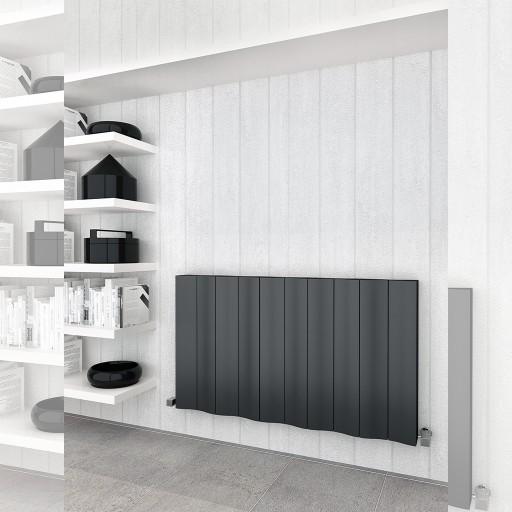 Sanica Faro Horizontal Single Panel Aluminium Radiator
