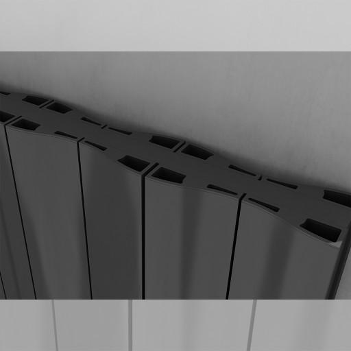 Sanica Faro Vertical Double Panel Aluminium Radiator