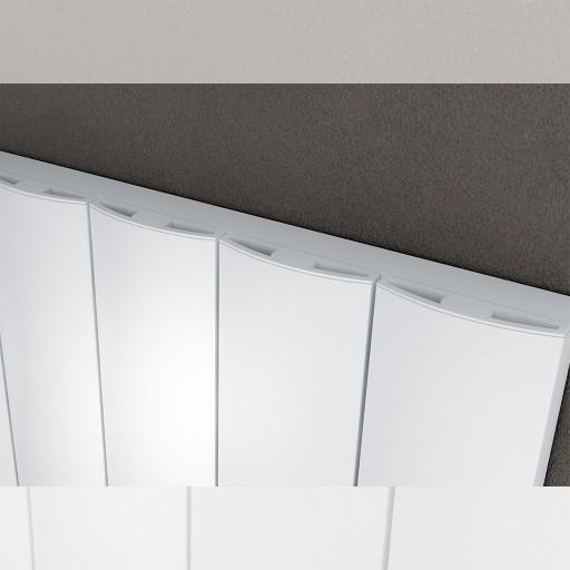 Sanica Lugo Horizontal Single Panel Aluminium Radiator