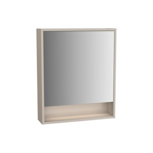 VitrA Integra Illuminated Mirror Cabinet - 600MM - Gritstone - Left Hand Hinged