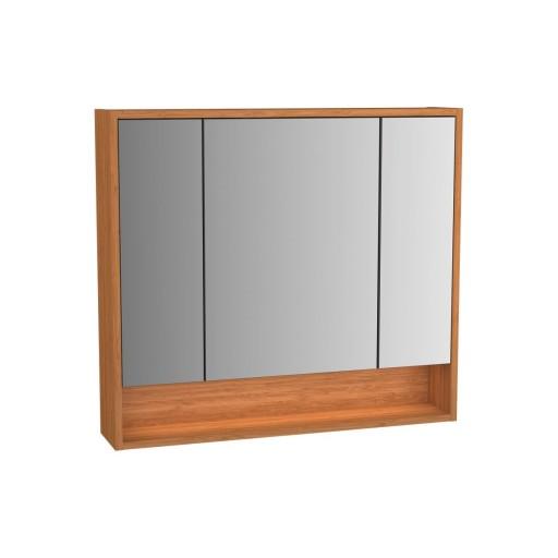 VitrA Integra Illuminated Mirror Cabinet - 800MM - Bamboo