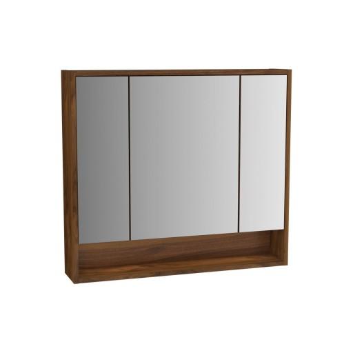 VitrA Integra Illuminated Mirror Cabinet - 800MM - Walnut