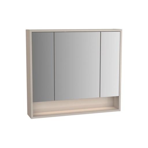 VitrA Integra Illuminated Mirror Cabinet - 800MM - Gritstone