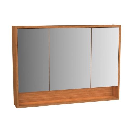 VitrA Integra Illuminated Mirror Cabinet - 1000MM - Bamboo