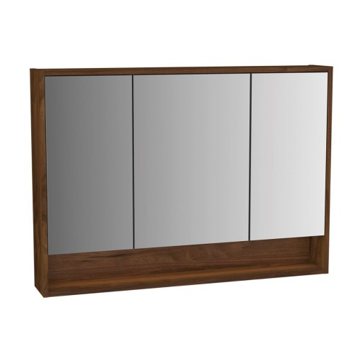 VitrA Integra Illuminated Mirror Cabinet - 1000MM - Walnut