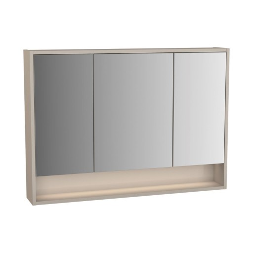 VitrA Integra Illuminated Mirror Cabinet - 1000MM - Gritstone