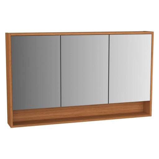 VitrA Intecgra Illuminated Mirror Cabinet - 1200MM - Bamboo