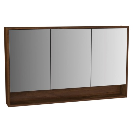 VitrA Integra Illuminated Mirror Cabinet - 1200MM - Walnut