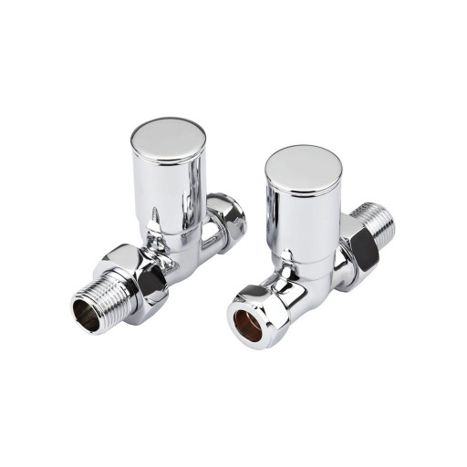 Sanica Chrome Angled & Straight Radiator Valve