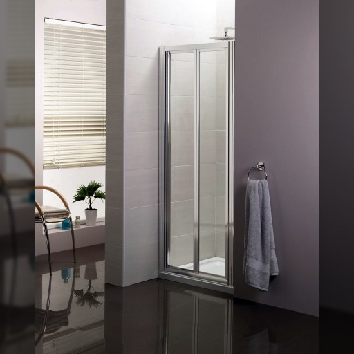 Artesan Hapi6 Chrome Bi-Fold Shower Door - 760MM x 1900MM