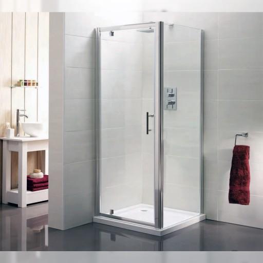 Artesan Hapi6 Chrome Shower Side Panel - 1000MM x 1900MM