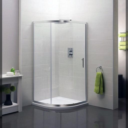 Artesan Hapi6 Single Quadrant Shower Door - Chrome - 1200MM X 800MM