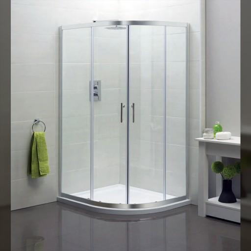 Artesan Hapi6 Double Door Quadrant Shower Enclosure - 800MM x 800MM