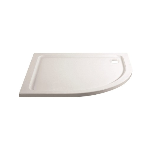 April Stone Shower Tray - Offset Quad - 1200 mm x 800 mm