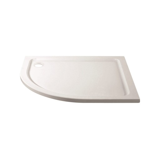 April Stone Shower Tray - Offset Quad - 900 mm x 760 mm