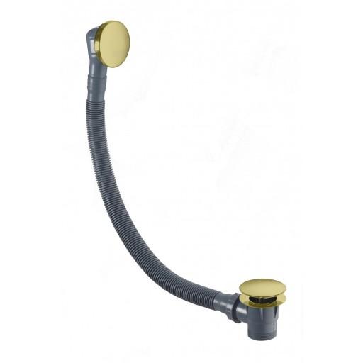 Flova Levo Gold Round Bath Clicker Waste + Overflow Filler