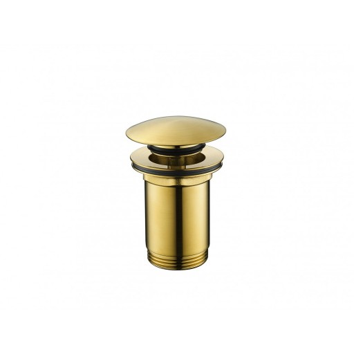 Flova Levo Gold Round Clicker Basin Waste - Slotted & Unslotted