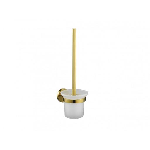 Flova Levo Gold Wall Mounted Toilet Brush & Holder