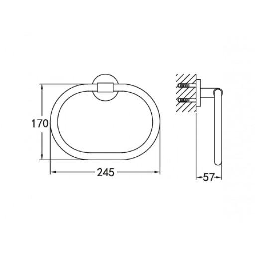 Flova Levo Gold Oval Towel Ring
