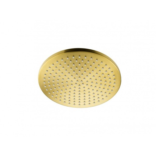 Flova Levo Gold Round Design Air-Mix Ceiling Mounted Rainshower Head Kit