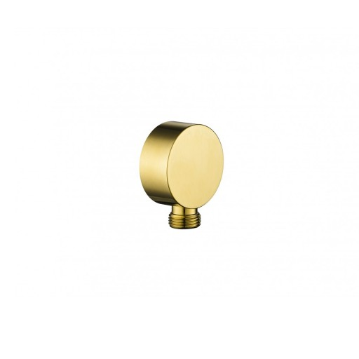 Flova Levo Gold Round Wall Outlet Elbow