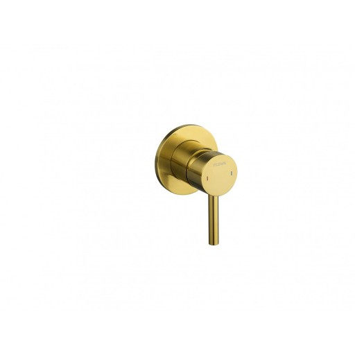 Flova Levo Gold Round Single Outlet Concealed Manual Shower Valve