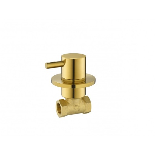 Flova Levo Gold Round Concealed Wall Mounted Cold Water Shut Off Valve