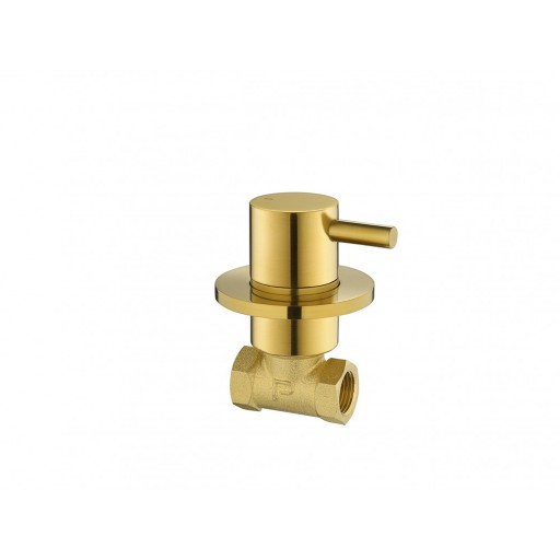 Flova Levo Gold Round Concealed Wall Mounted Hot Water Shut Off Valve