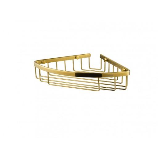 Flova Levo Gold Solid Brass Corner Basket