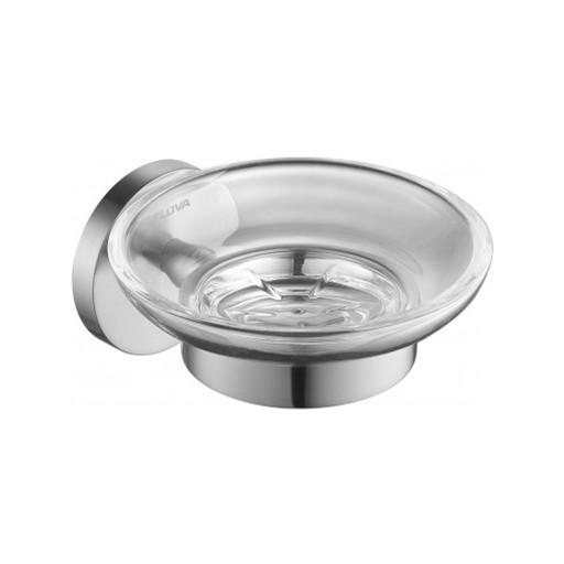 Flova Levo Nickel Glass Soap Dish