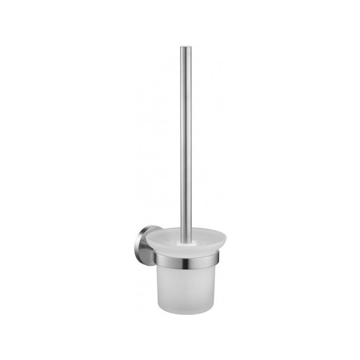 Flova Levo Nickel Wall Mounted Toilet Brush & Holder