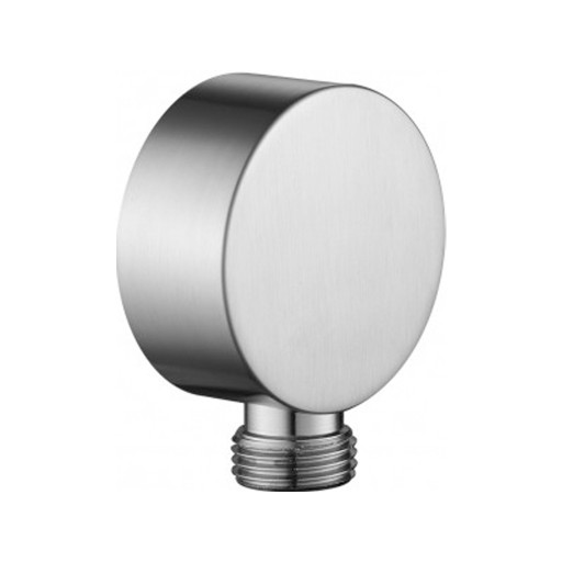 Flova Levo Nickel Round Wall Outlet Elbow