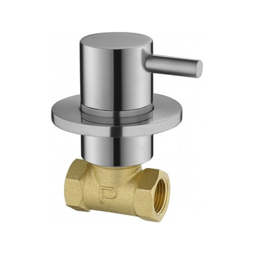 Flova Levo Nickel Wall Mounted Concealed Cold Water Shut Off Valve