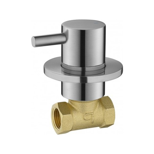 Flova Levo Nickel Wall Mounted Concealed Hot Water Shut Off Valve