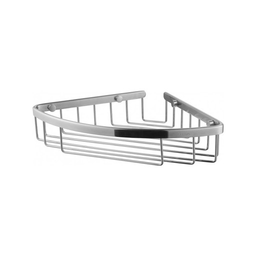 Flova Levo Nickel Solid Brass Corner Basket
