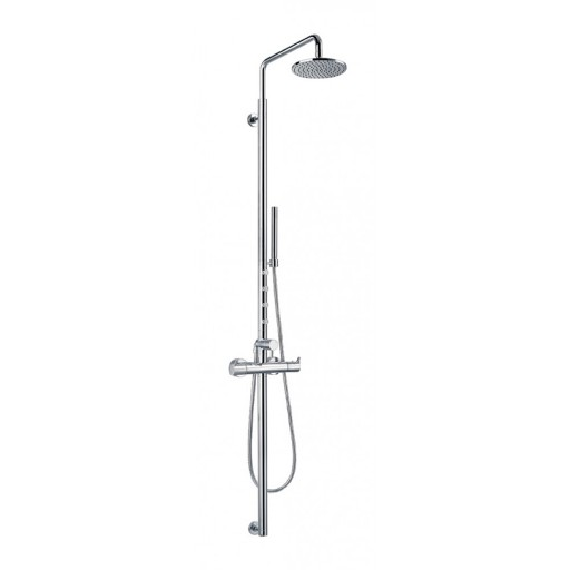 Flova Levo Chrome Exposed Thermostatic Shower Column Set