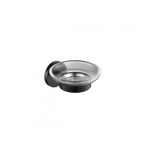 Flova Levo Matt Black Glass Soap Dish