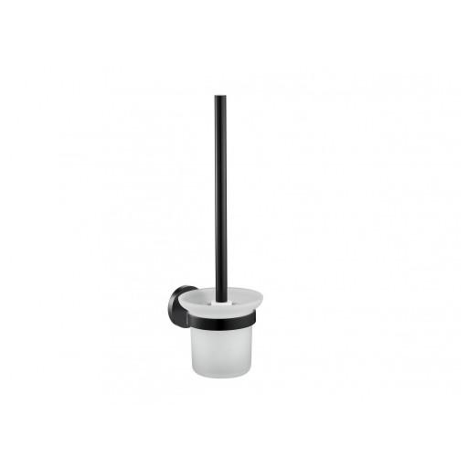 Flova Levo Matt Black Wall Mounted Toilet Brush & Holder