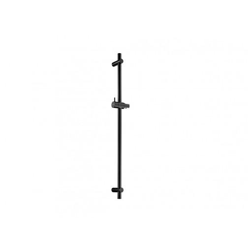 Flova Levo Matt Black Slide Rail with Adjustable Handset Holder