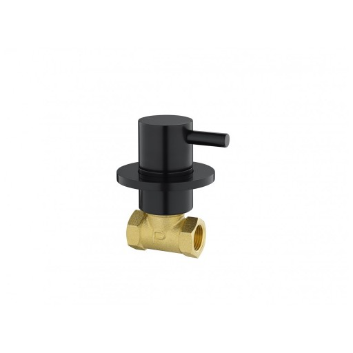 Flova Levo Matt Black Concealed Hot Water Shut Off Valve