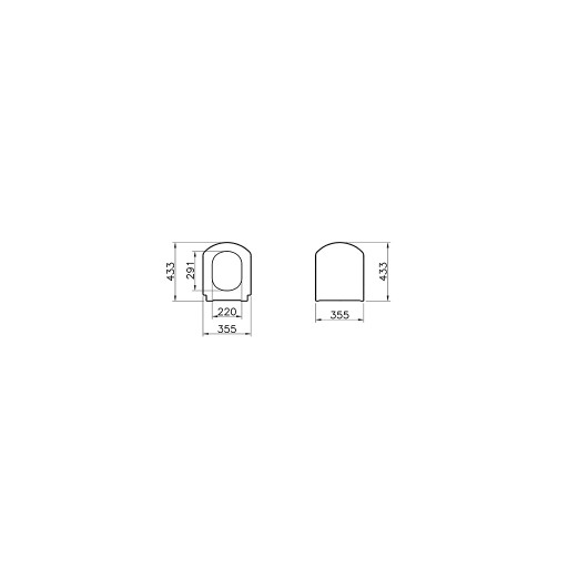 VitrA Valarte Standard Toilet Seat