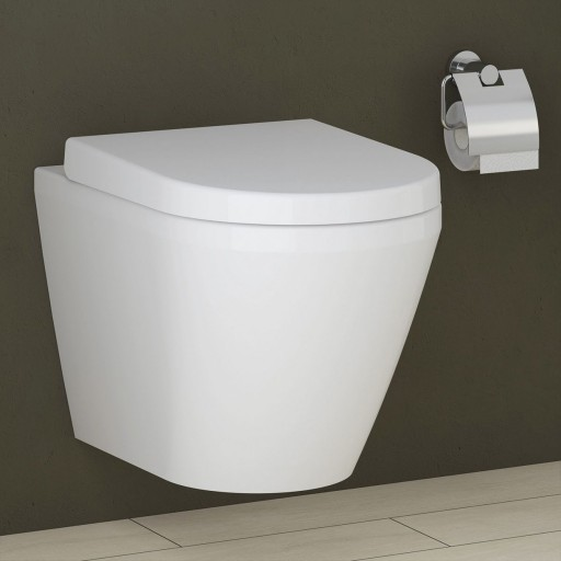 VitrA Integra Rimless Wall Hung Toilet - 500MM Projection