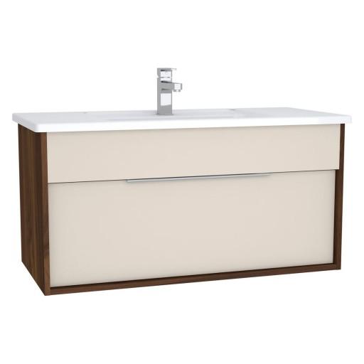 VitrA Integra Vanity Unit & Basin - 1000MM - Cashmere & Metallic Walnut