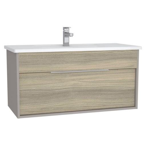VitrA Integra Vanity Unit & Basin - 1000MM - Grey Elm & Gritstone