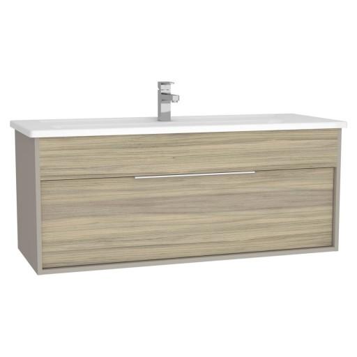 VitrA Integra Vanity Unit & Basin - 1200MM - Grey Elm & Gritstone