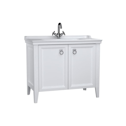 VitrA Valarte Double Door Matt White Vanity Unit & Single Tap Basin - 1000MM